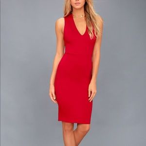 Lulus Bodycon Red Dress